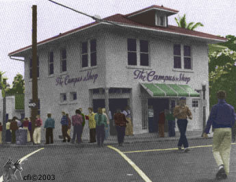The Campus Shop hand tinted